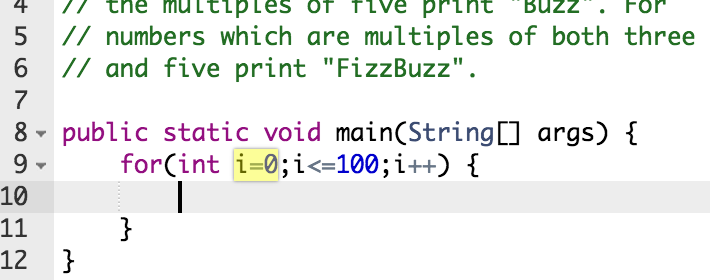 highlighted code during a technical phone interview